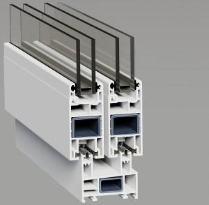 Розсувна система металопластикових вікон та дверей - SWS
