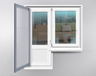 Распашные - для дверей на балкон благодаря усиленному каркасу годятся для балконных дверей